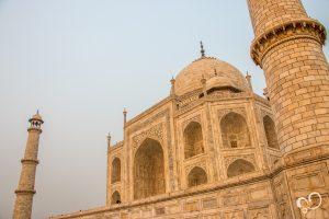 Vista lateral do Taj Mahal em nossa Viagem à Índia
