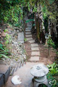 Jardim do Espaço Prana Prana usado durante o Retiro de Yoga